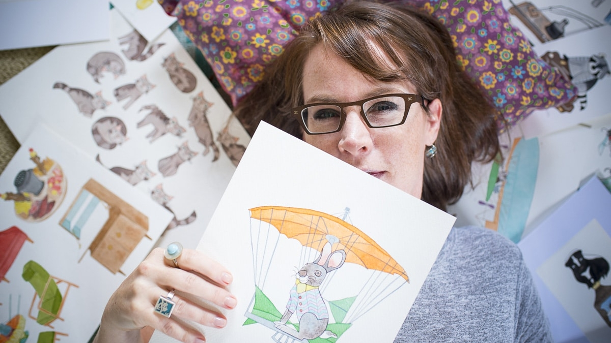 Turning art into wallpaper. How Laura Levie got her art on the walls of Ronald McDonald House Charities of Alabama