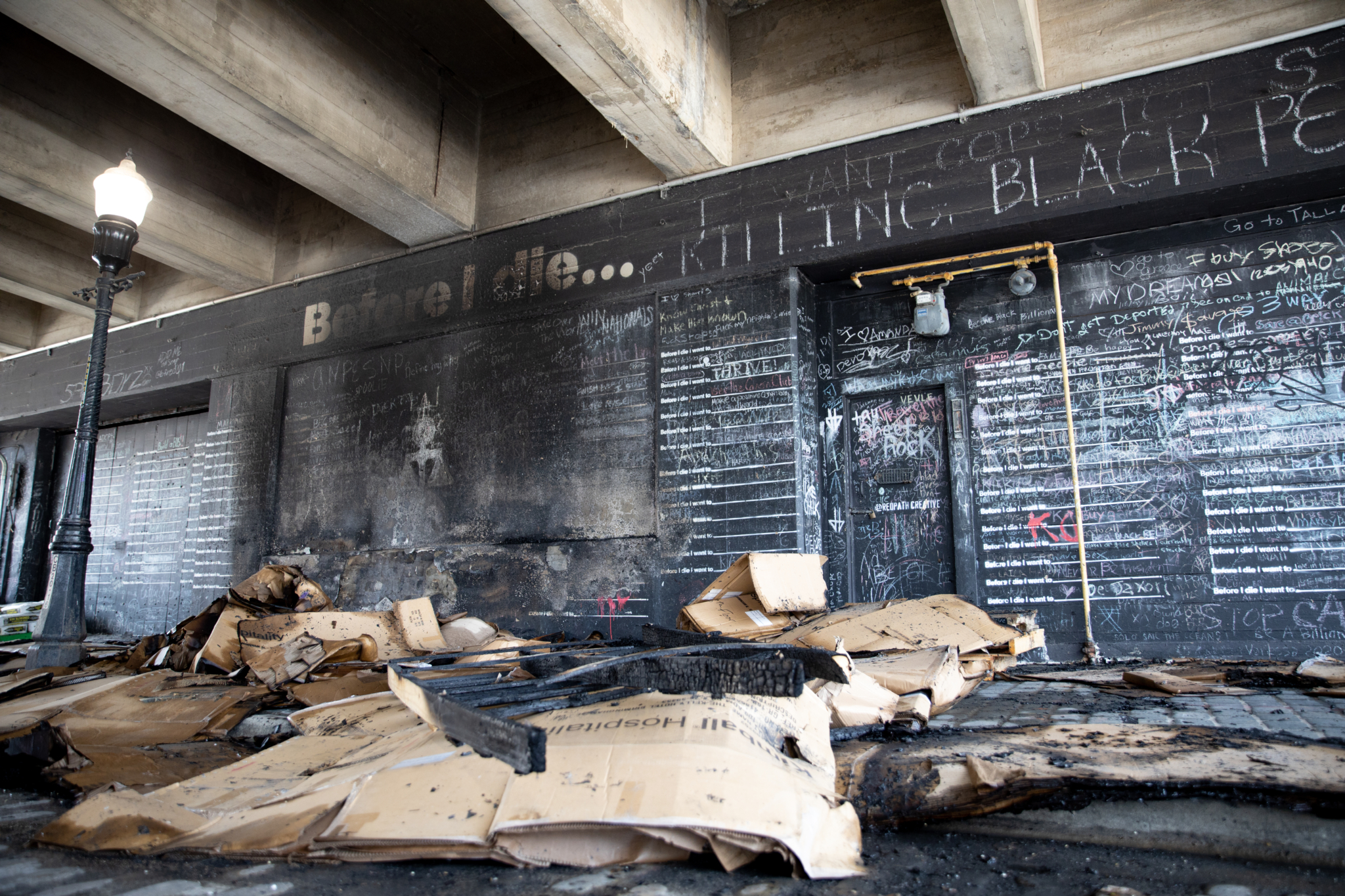 """Damage to the """"Before I die"""" mural—find out how to stay involved"""